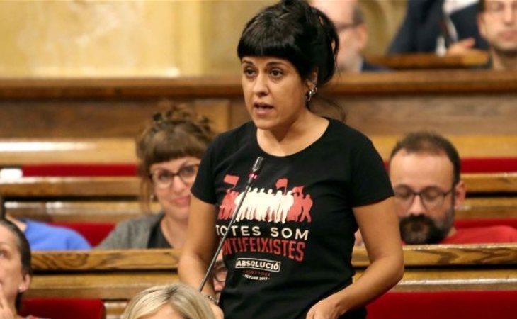 Anna Gabriel, en el Parlament