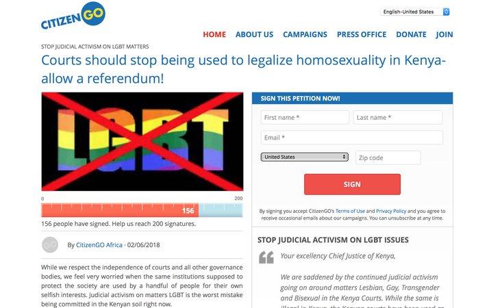 Extracto de la petición de CitizenGO, creada por Hazte Oír