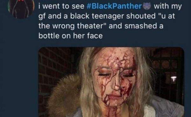 Esta imagen es de una chica que fue agredida en Suecia hace años