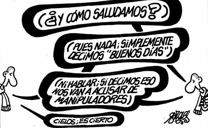La primera viñeta de Forges en El País, en junio de 1995