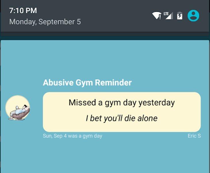 Resultado de imagen para lanzan aplicacion que te insulta gimnasio