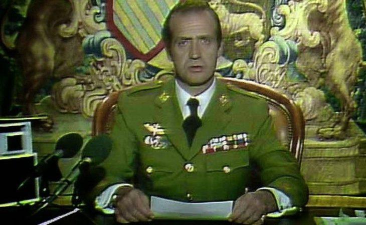 El Rey Juan Carlos, durantew su alocución el 23-F
