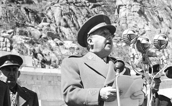 El dictador durante la inauguración del Valle de los Caídos en 1959
