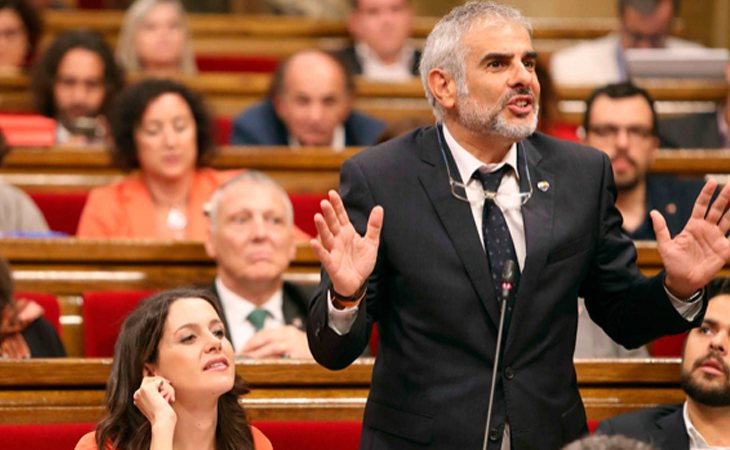 Inés Arrimadas y Carlos Carrizosa (Cs) en el Parlament
