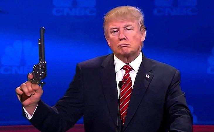 El presidente se considera un firme defensor de la venta libre de armas