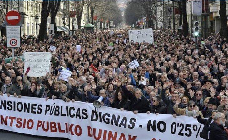 Las manifestaciones de los pensionistas han cubierto las calles de toda España