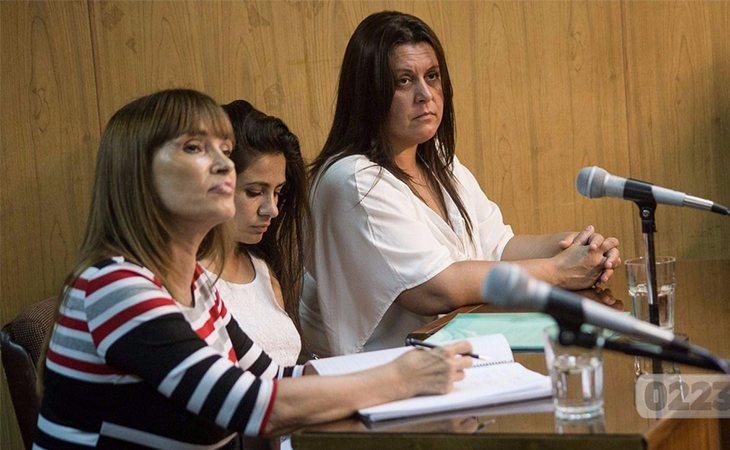 Analía Schwartz durante su juicio