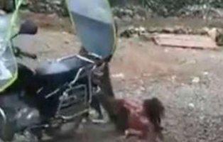 Golpea a su hija y la arrastra en moto por el suelo porque no quería ir al colegio