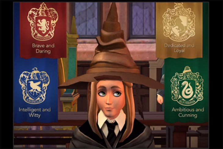 El sombrero seleccionador tambien hará su aparición en el juego
