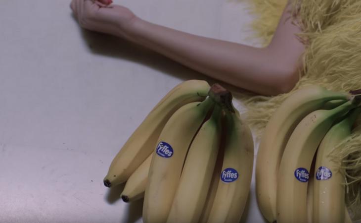 Plátanos, piñas o pastillas aparecen en medio del videoclip
