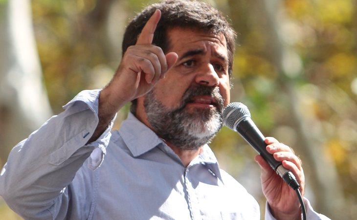 Jordi Sànchez en un acto independentista antes de entrar en prisión