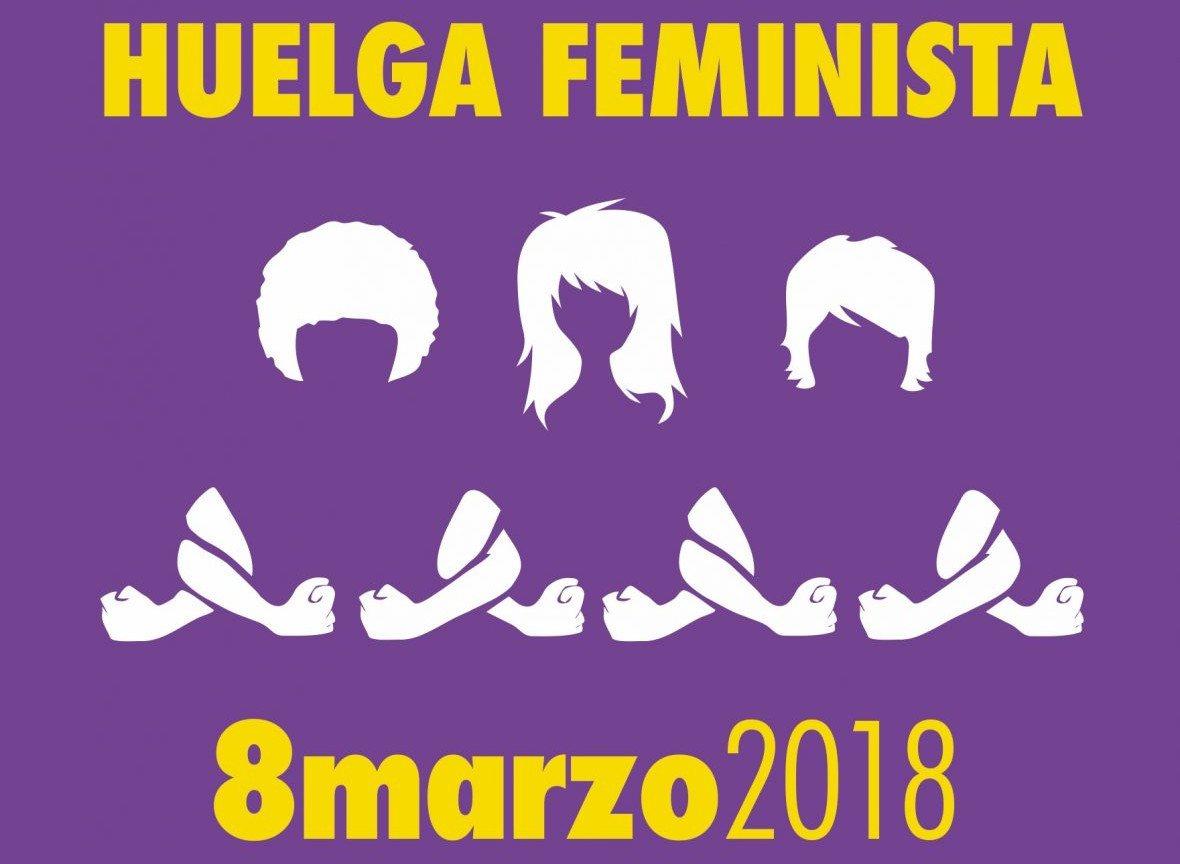Cartel de convocatoria para la Huelga feminista