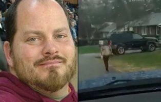 Polémico castigo: un padre pone a su hijo a correr bajo la lluvia por hacer bullying