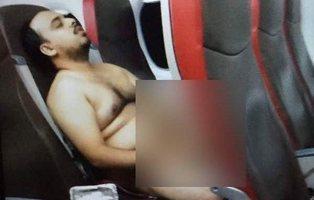 Detenido tras desnudarse, masturbarse y ver películas porno ante todo el pasaje del vuelo