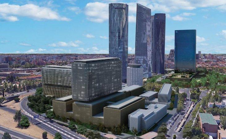 Imagen del proyecto de presentación del nuevo hospital de La Paz