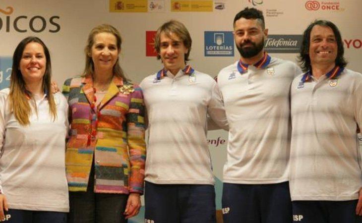 La infanta Elena despidió a los deportistas que nos representarán en los Juegos Paralímpicos 2018