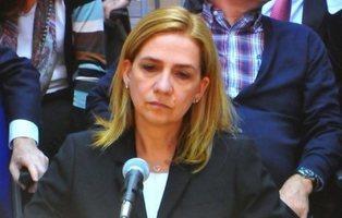 La Infanta Cristina se siente deprimida y no concilia el sueño por las noches