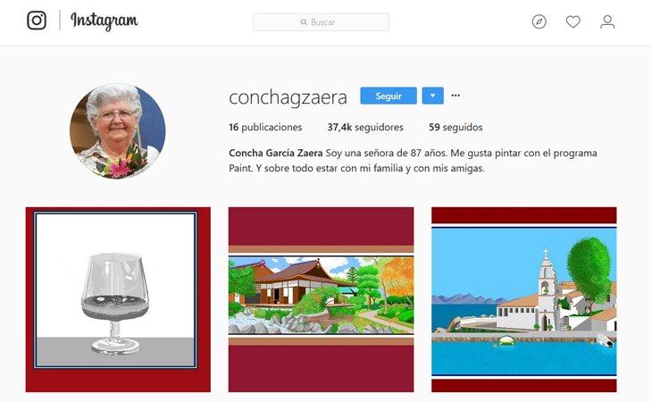 Cuenta de instagram de Concha