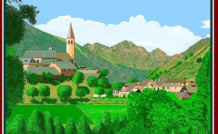 Uno de los paisajes a Paint de Concha