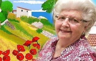 Concha, la señora de 87 años que está conquistando con sus cuadros a Paint