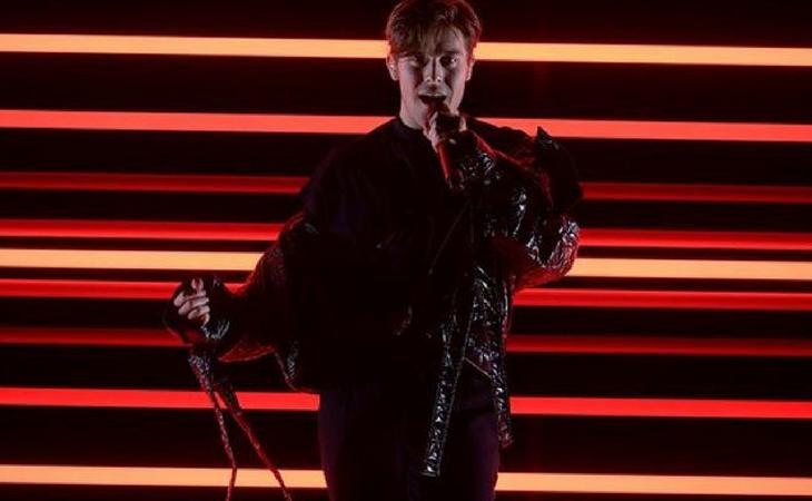 Ingrosso en su actuación de la final del 'Melodifestivalen'
