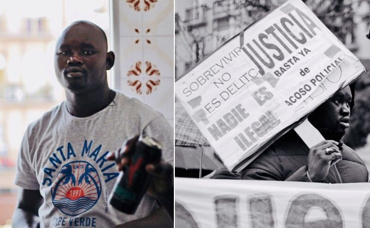 Mmame Mbaye, mantero fallecido tras una persecución policial Foto Twitter manteroslateros