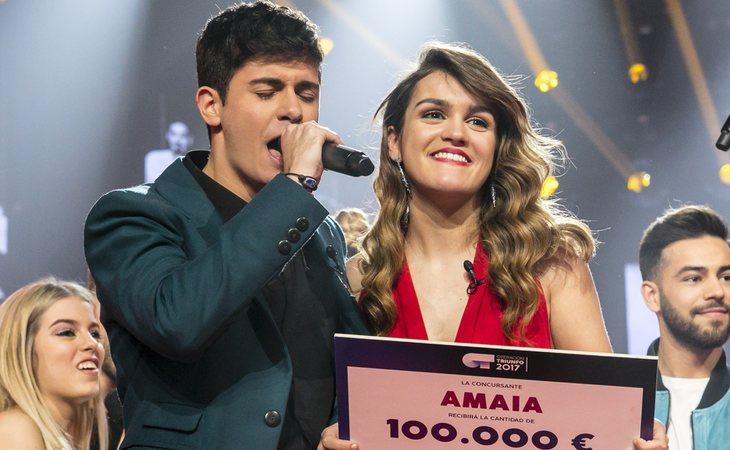 Amaia Romero, ganadora de 'OT 2017', representará a España en Eurovisión junto a Alfred