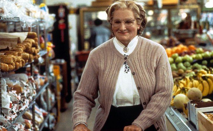 Robin Williams en 'Señora Doubtfire, papá de por vida'