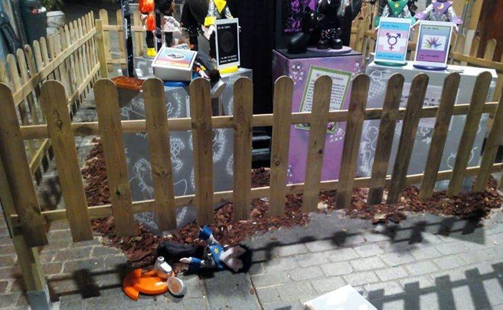 Falla D´´'Alt-Sant Tomás destrozada por ataques homófobos