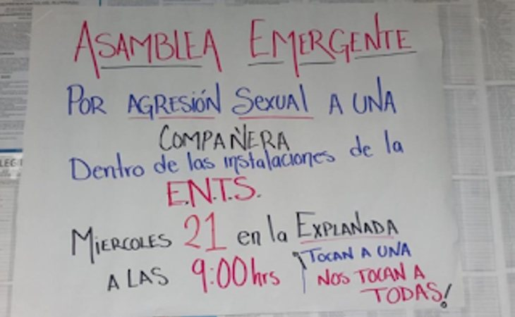 Convocatoria de una asamblea el 21 de marzoen la explanada de la escuela de Trabajo Social a las 9:00 horas
