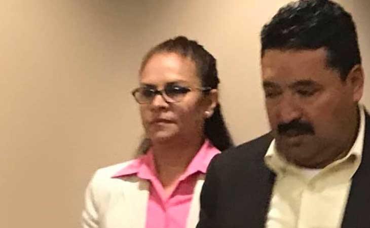 Aracely Meza durante el juicio