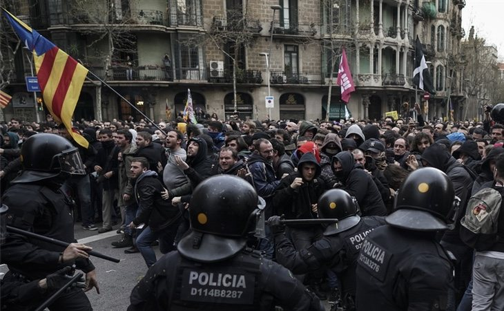 La detención de Puigdemont ha provocado nuevos incidentes