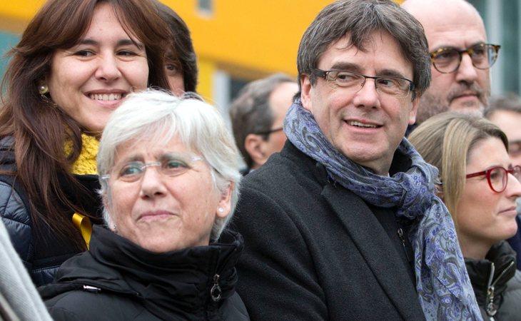 Clara Ponsatí y Carles Puigdemont en Bruselas