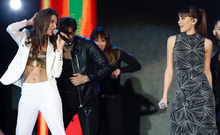 Ana Guerra y Aitana cantan 'Lo malo' en los Premios Cadena Dial