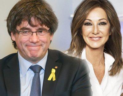 Puigdemont presenta una denuncia contra Ana Rosa por difundir sus mensajes a Comín