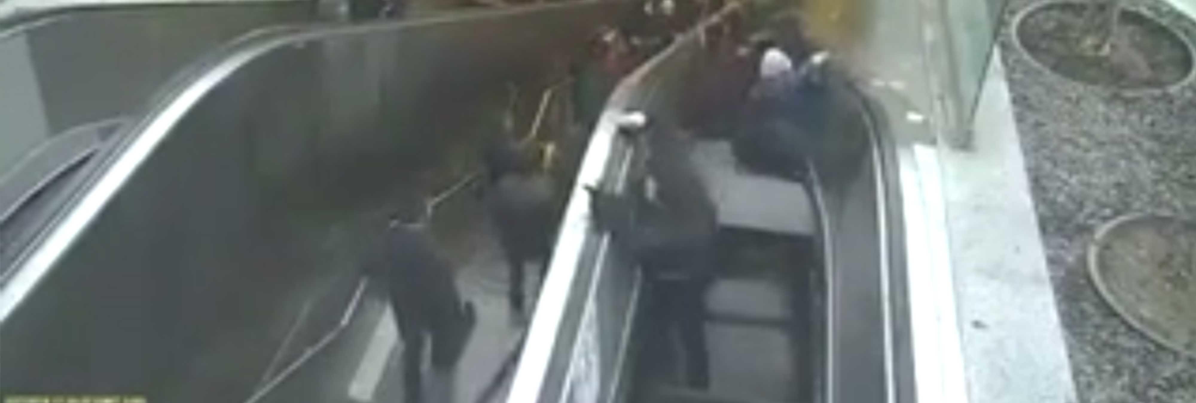 Una escalera mecánica devora a un hombre en Turquía