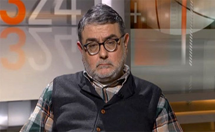Carles Sastre en una entrevista en TV3