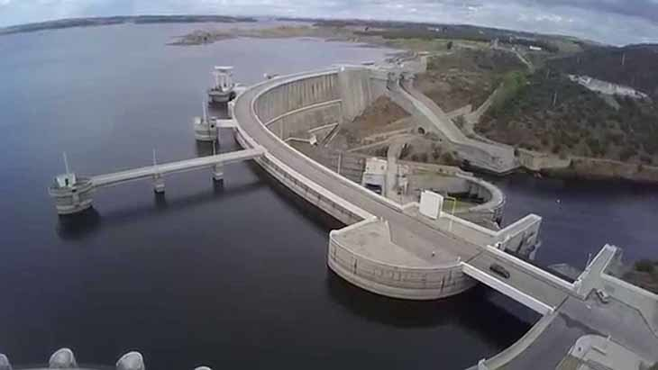 El pantano de Alqueva es una de las fuentes de energía hidroeléctrica