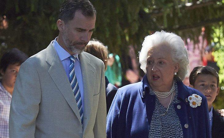 El Rey Felipe acudió solo a la comunión de los nietos de la infanta Pilar