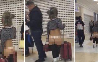 Graban a una mujer paseándose en tanga por todo el aeropuerto y la Policía actúa contra ella