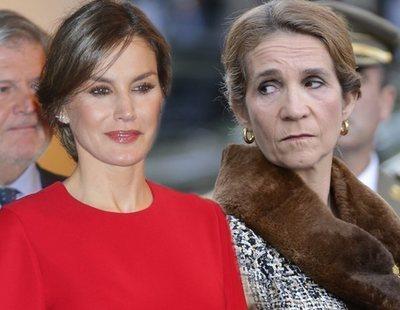La Infanta Elena se alegra de los abucheos que recibió la Reina Letizia