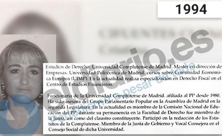 La III Legislatura de la Asamblea de Madrid es la primera de Cifuentes