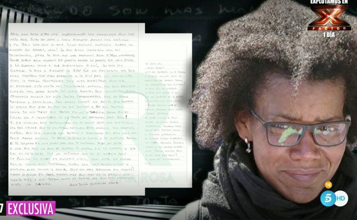 La carta de Ana Julia mandada a 'El programa de Ana Rosa'