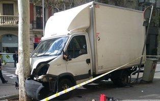 Un camión atropella a varias personas en Barcelona