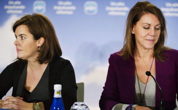Soraya Sáenz de Santamaría y María Dolores de Cospedal, dos opciones ante el caso de Cifuentes
