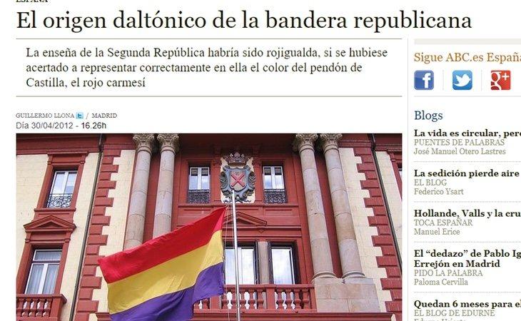 ABC es el diario más duro con la bandera tricolor