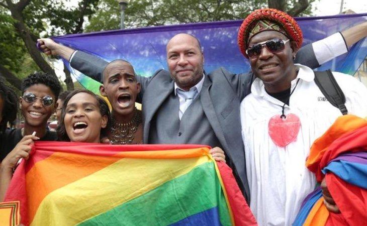 Jason Jones celebrando la diversidad sexual en Trinidad y Tobago
