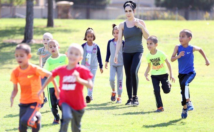 Natalie es una apasionada del deporte y quiere inculcárselo a sus hijos