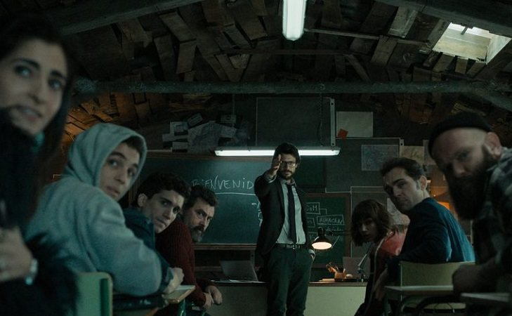 El Profesor junto a miembros de la banda