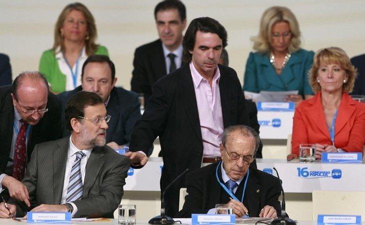 El Congreso de Valencia de 2008 abrió una fuerte guerra interna entre Aguirre y Rajoy